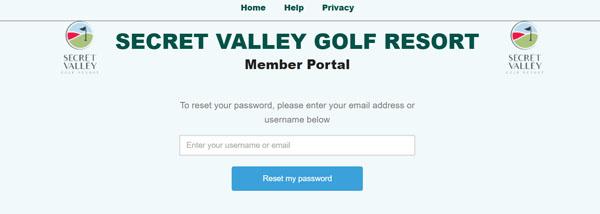 Help - SV Password Reset